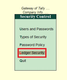 Ledger and Group Security Add-On